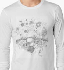 Bacteriophage ballet, ink drawing on paper by Regina Valluzzi Long Sleeve T-Shirt
