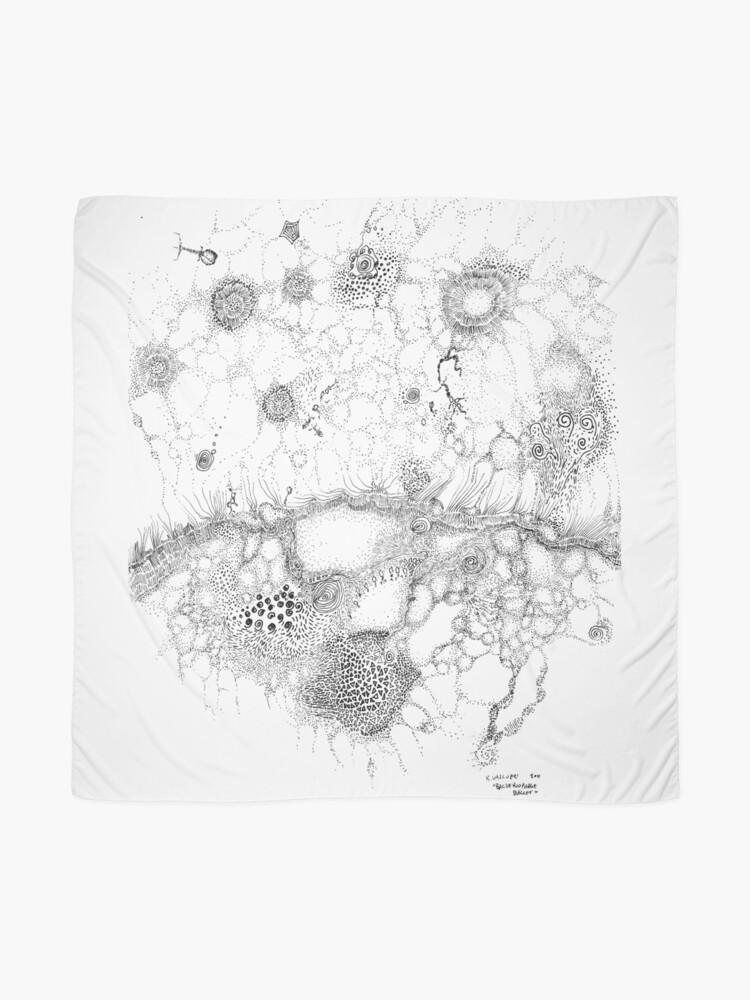 Alternative Ansicht von Bakteriophagenballett, Tuschezeichnung auf Papier von Regina Valluzzi Tuch