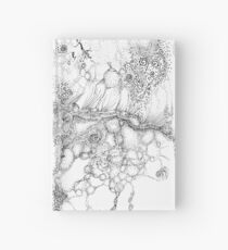 Bacteriophage ballet, ink drawing on paper by Regina Valluzzi Hardcover Journal