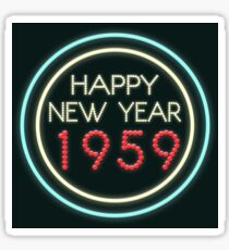 Happy New Year 1959 Sticker