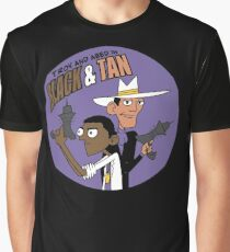 Troy and Abed in Black and Tan Graphic T-Shirt