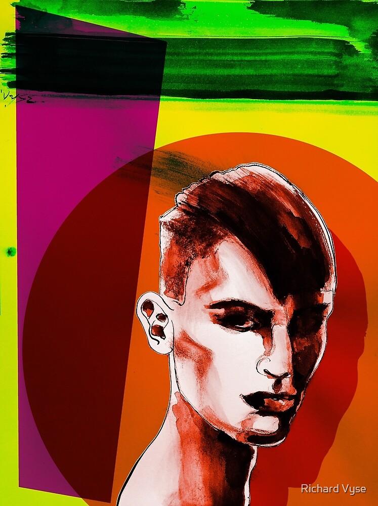Man Edge Pop Art by Richard Vyse
