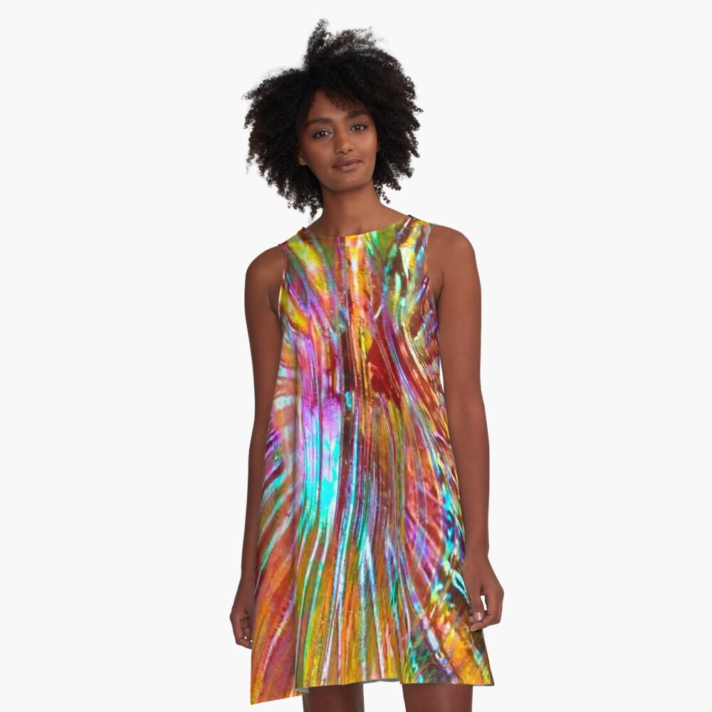 Carnival Glass Abstract A-Line Dress Front