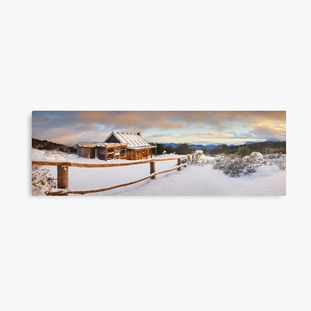 Craigs Hut Winter Dawn, Mt Stirling, Victoria, Australia Metal Print