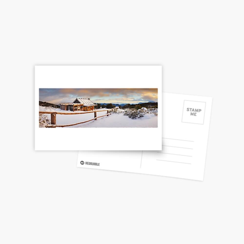Craigs Hut Winter Dawn, Mt Stirling, Victoria, Australia Postcard