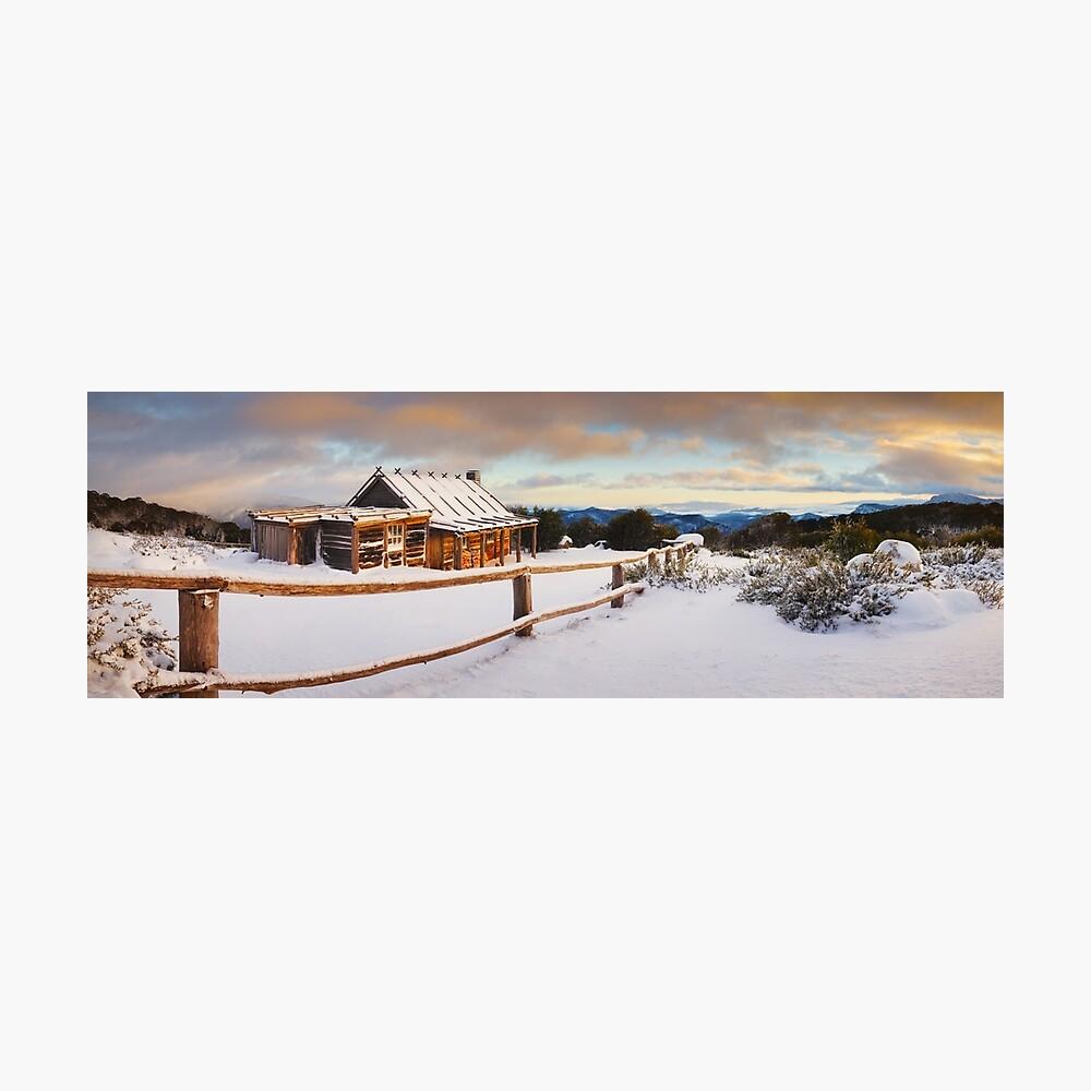 Craigs Hut Winter Dawn, Mt Stirling, Victoria, Australia Photographic Print
