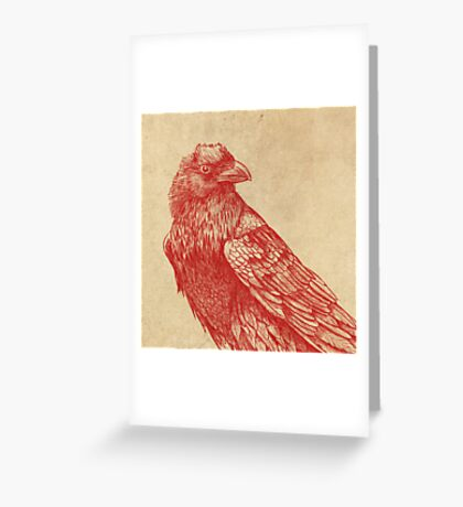 Red Raven  Greeting Card