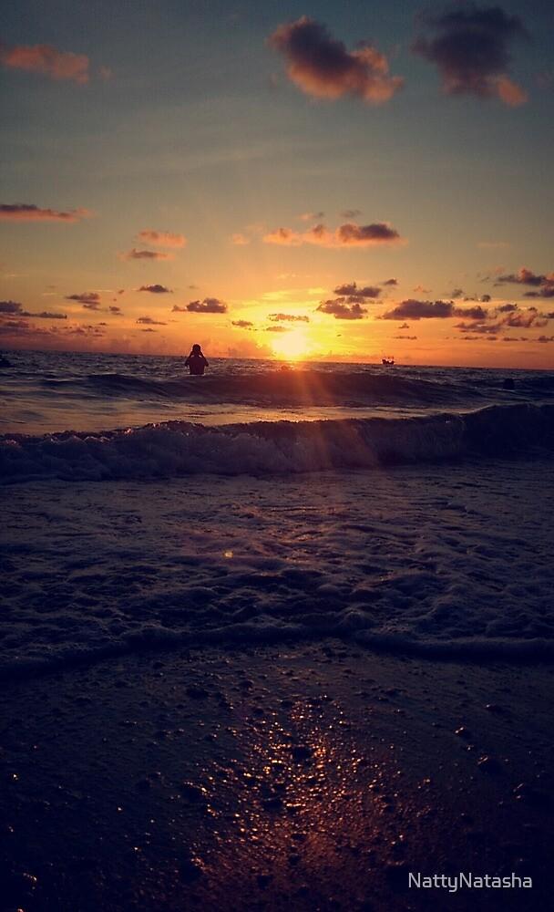 florida beach sunset by NattyNatasha