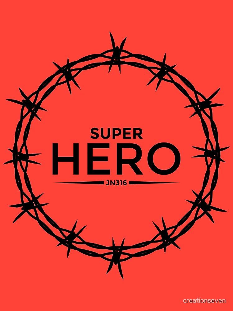 Hero Jesus Crown Thorns Razor Wire  by Brian Mitchell
