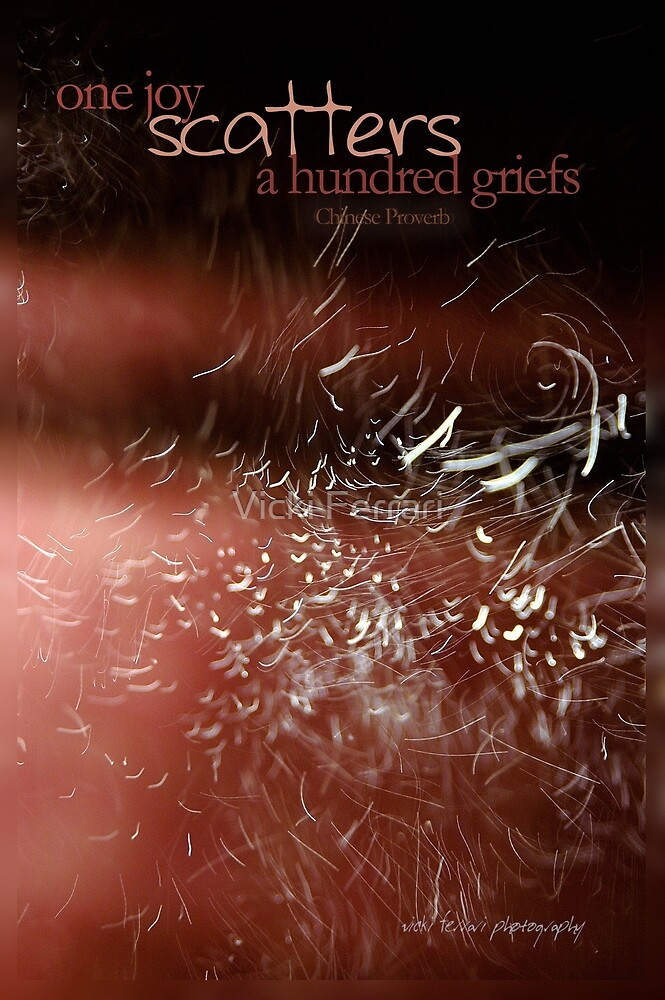 One Joy Scatters A Hundred Griefs © Vicki Ferrari by Vicki Ferrari