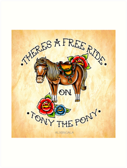 There's a free ride on Tony the Pony by alxbngala