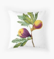 Vintage Botanical Print, Fig by Redoute Throw Pillow