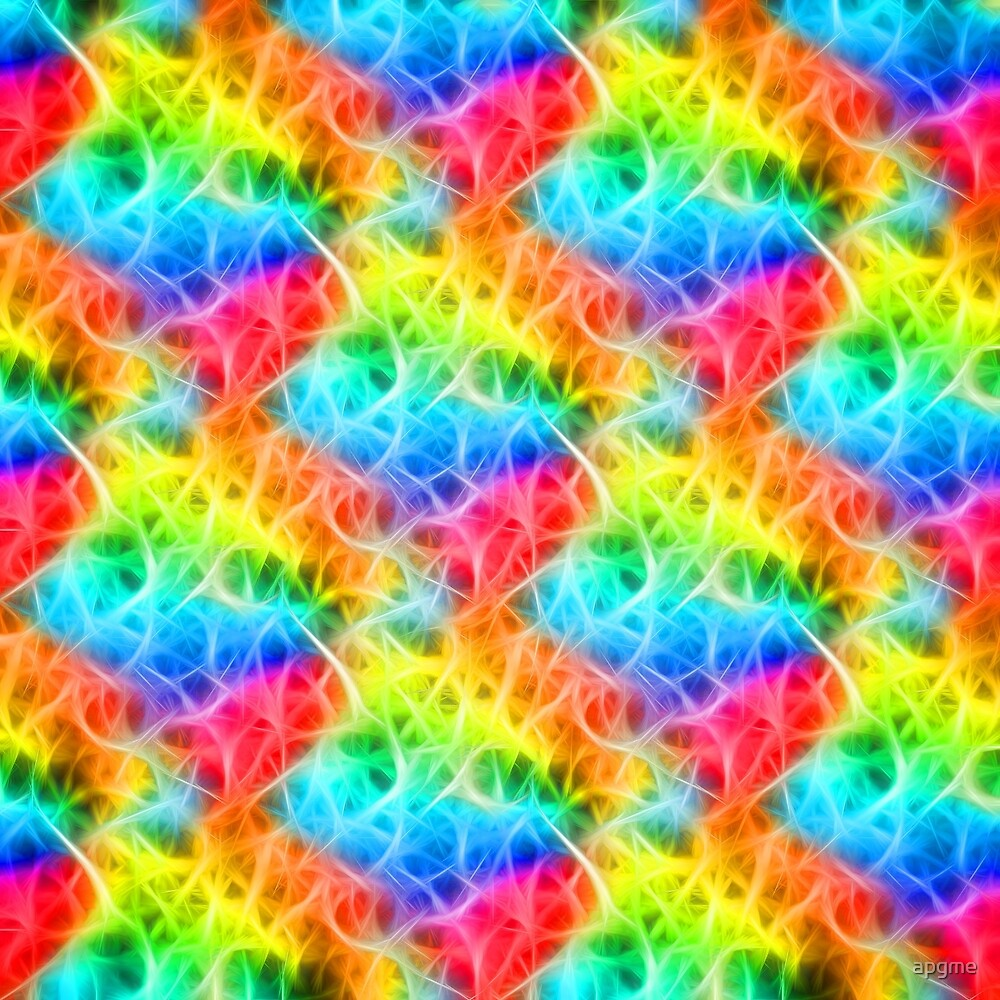 Colorful Neon Glow Fibers by apgme