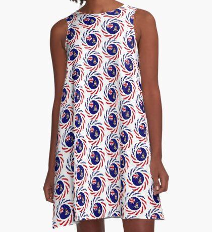 Caymanian American Multinational Patriot Flag Series A-Line Dress