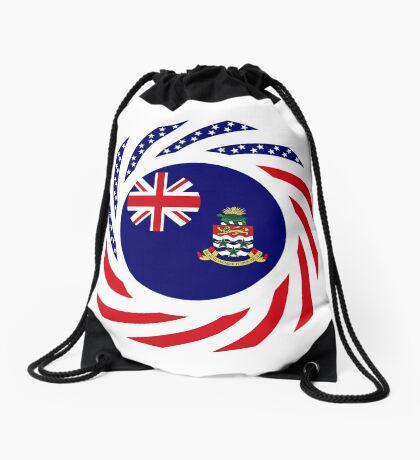 Caymanian American Multinational Patriot Flag Series Drawstring Bag