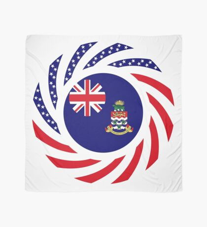 Caymanian American Multinational Patriot Flag Series Scarf
