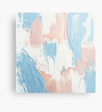 Pink and Blue Abstract Painting Metal Print