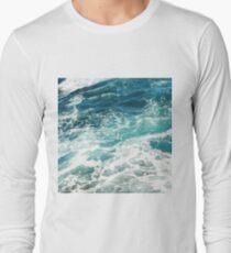 Camiseta de manga larga Olas azules del oceano