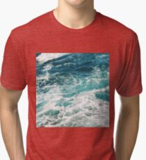 Blue Ocean Waves  Tri-blend T-Shirt