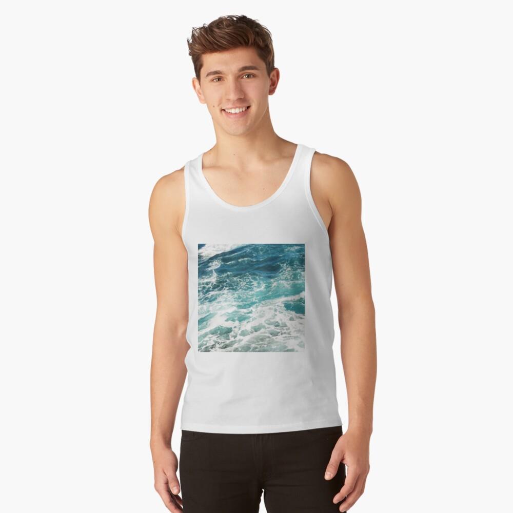 Olas azules del oceano Camiseta de tirantes