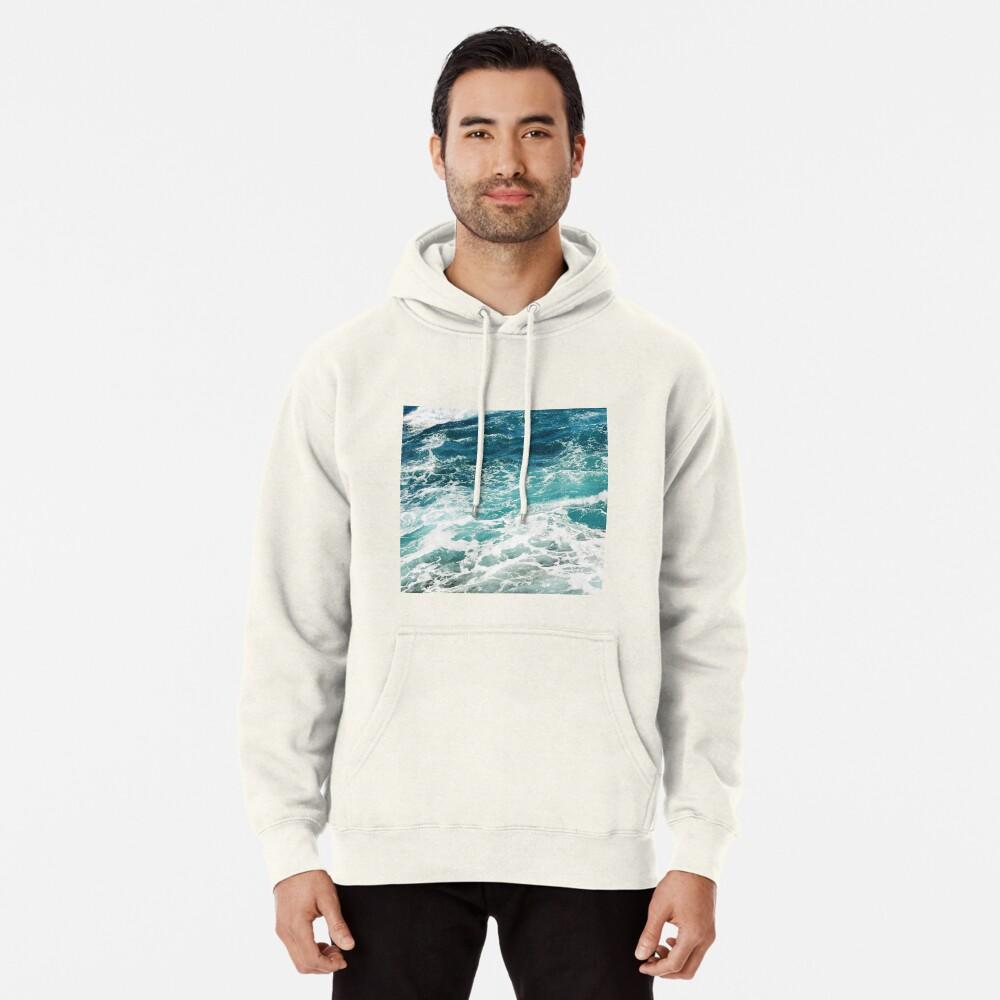 Blaue Meereswellen Hoodie