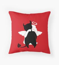 Guess  the evil one Throw Pillow