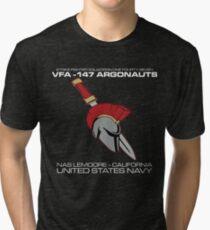 VFA-147 ARGONAUTS UNITED STATES NAVY STRIKE FIGHTER SQUADRON T-SHIRTS Tri-blend T-Shirt