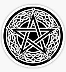 Celtic Pentagram or Pentacle white Sticker