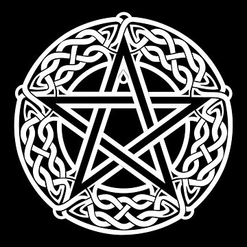 Celtic Pentagram or Pentacle white by chromedreaming