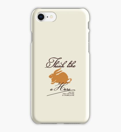 Think like a hare VRS2 iPhone Case/Skin