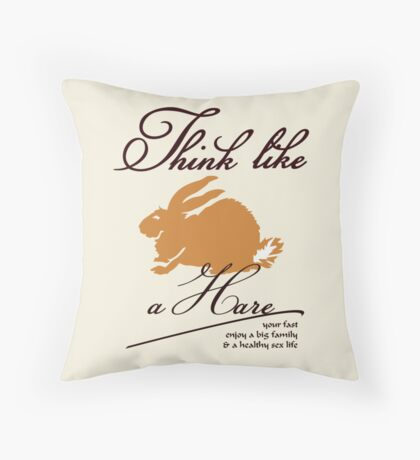 Think like a hare VRS2 Throw Pillow