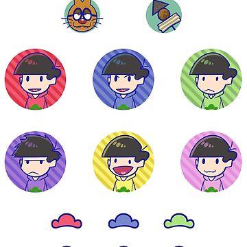 Osomatsu san: Sticker Sheet by Danies