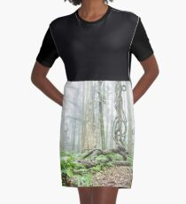 Forest Vine Graphic T-Shirt Dress