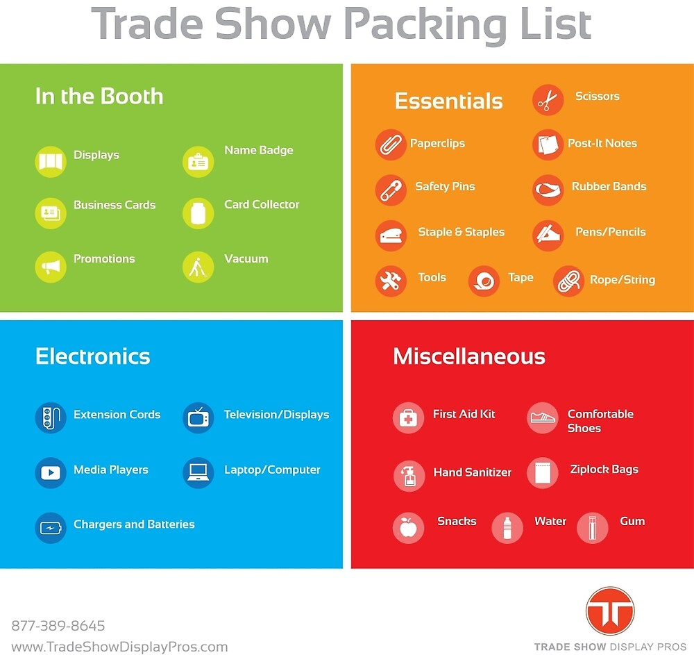 Trade Show Packing List by tradeshowpack
