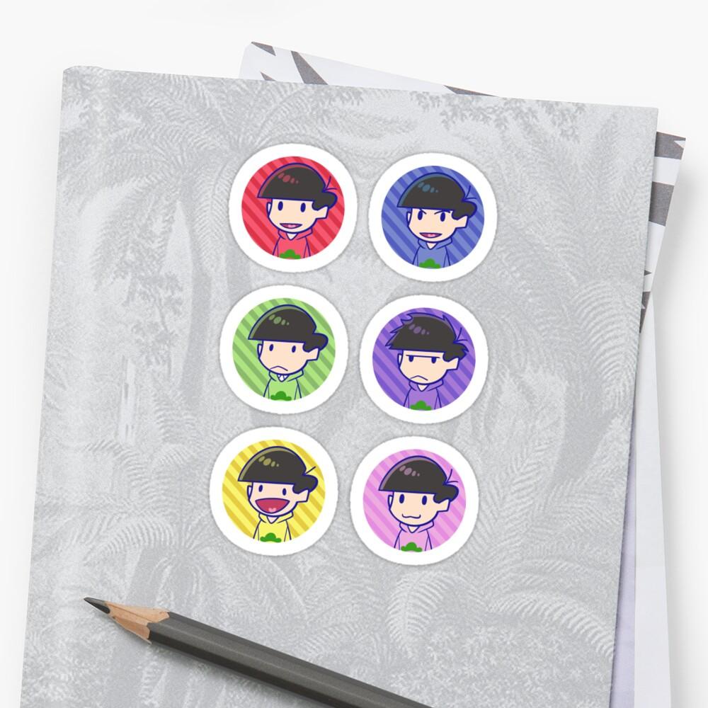 Osomatsu san: Heads Sticker Sheet by Danies