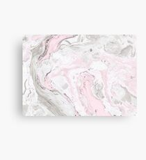 Pink and Gray Marble Print Canvas Print