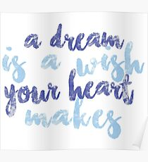 A Dream Is a Wish Your Heart Makes Poster