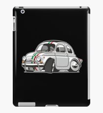 Fiat 500L caricature white iPad Case/Skin
