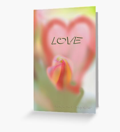 L O V E © Vicki Ferrari Greeting Card