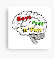 Boys food fun Canvas Print