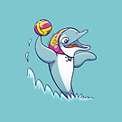 Cool dolphin playing water polo by Zoo-co