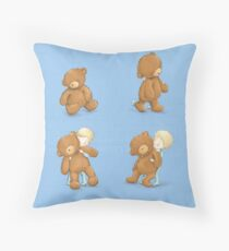Boy and Ted Throw Pillow