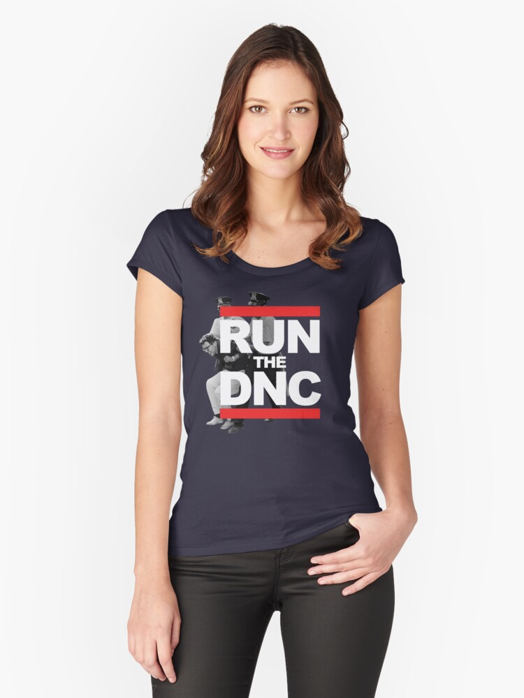 Run DNC Shirt and Fundraising Gear Women's Fitted Scoop T-Shirt Front