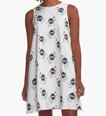 8-bit Soot Sprites/spirte and Candy! (Spirited Away/My Neighbor Totoro) A-Line Dress