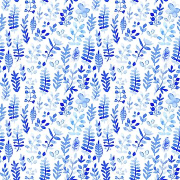 Blue Leaf Pattern by whatemma