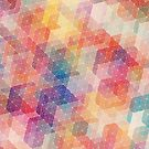 Rainbow Hexagon Pattern by whatemma