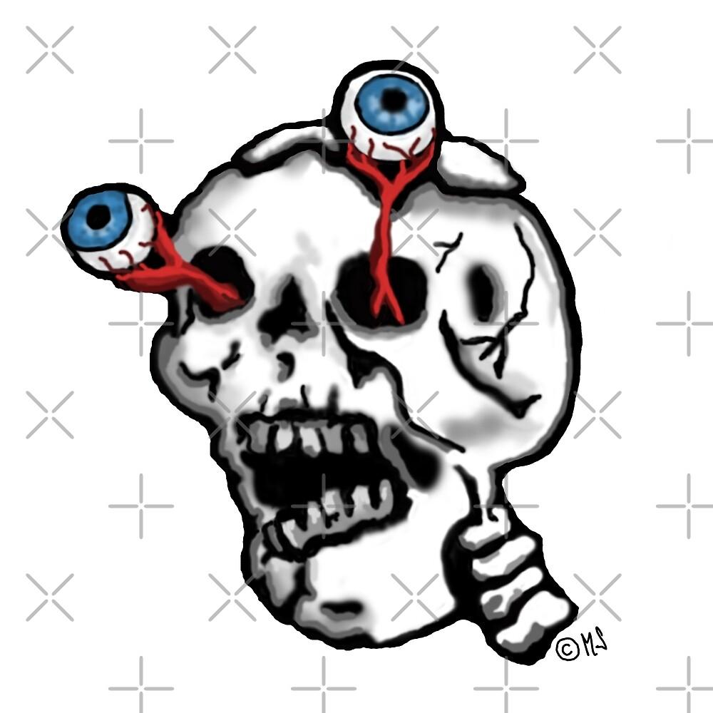 Skull and eyes  by freaks13