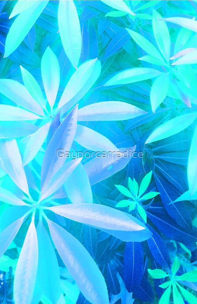 Tropical neon foliage print by Gaynorcarradice