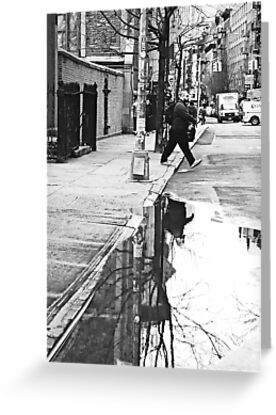NYC - The puddle by Jean-Luc Rollier