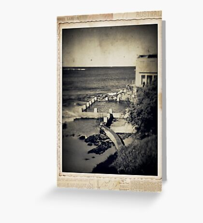 the seaside ~ a nostalgic study III Greeting Card